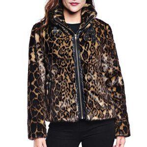 DONNA SALYERS Leopard Biker Girl Moto Jacket XS